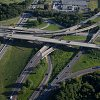 Aerial image of the Eisenhower Interchange project area